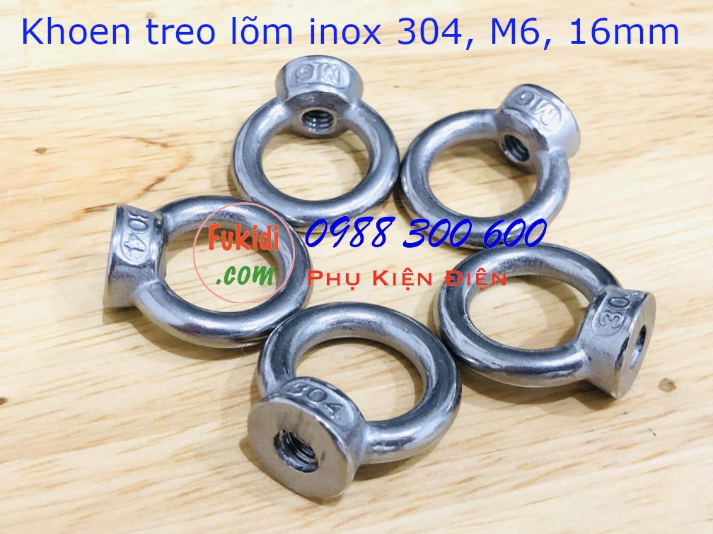 Khoen treo, móc treo inox 304, kích thước M6 HAMM6