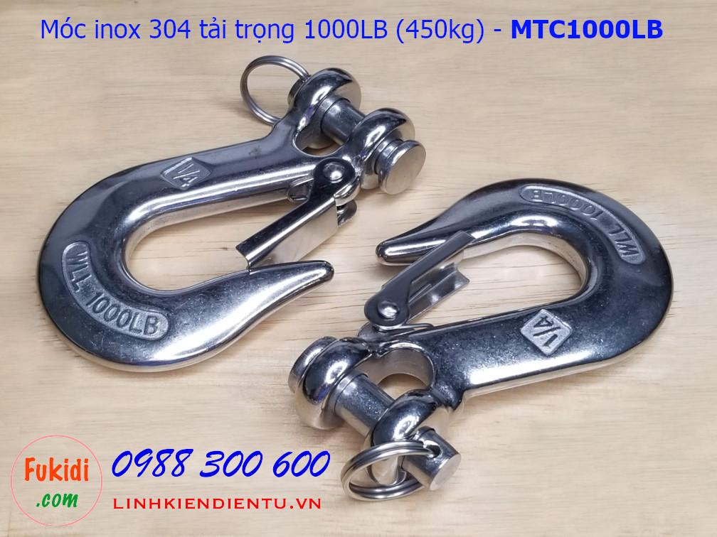 Móc treo đa năng inox 304 tải trọng 1000LB (450kg) - MTC1000LB