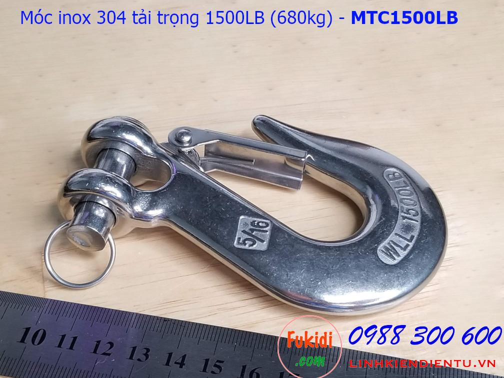 Móc treo đa năng inox 304 tải trọng 1500LB (680kg) - MTC1500LB