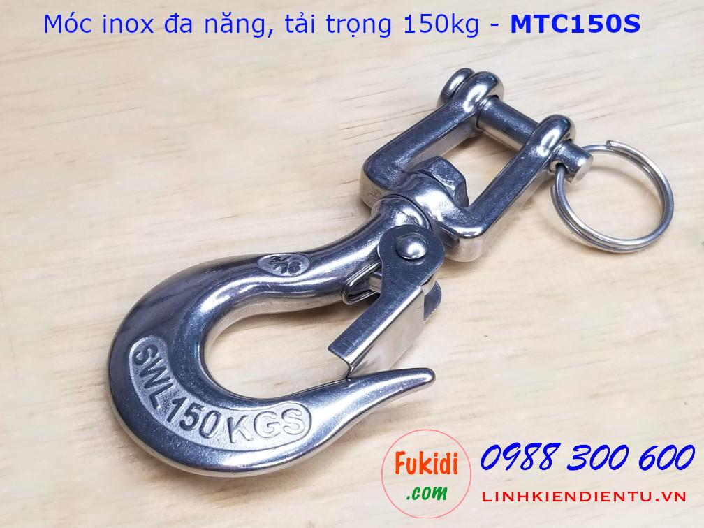 Móc inox đa năng, tải trọng 150kg đầu sừng dê - MTC150S