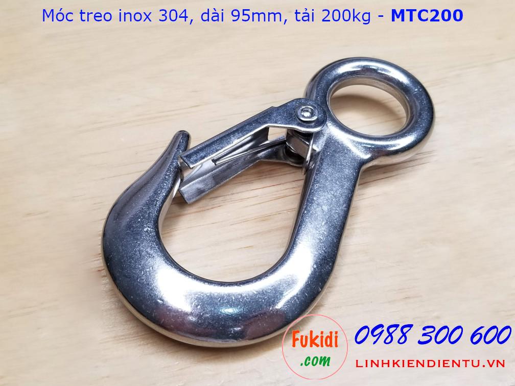 Móc treo cáp inox 304 tải trọng 200kg - MTC200