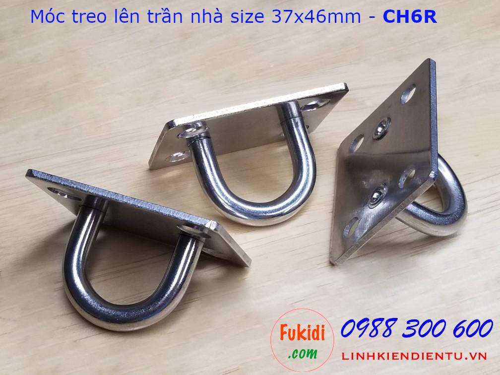 CH6R móc treo trần nhà cho đèn trang trí, treo quạt, size M6, đế chữ nhật 37.5x46.5mm