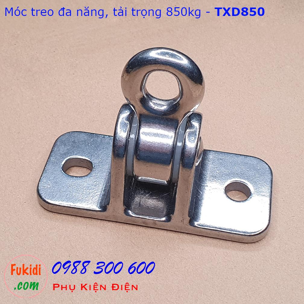 Móc treo đa năng, móc treo trần nhà inox 304 tải trọng 850kg - TXD850