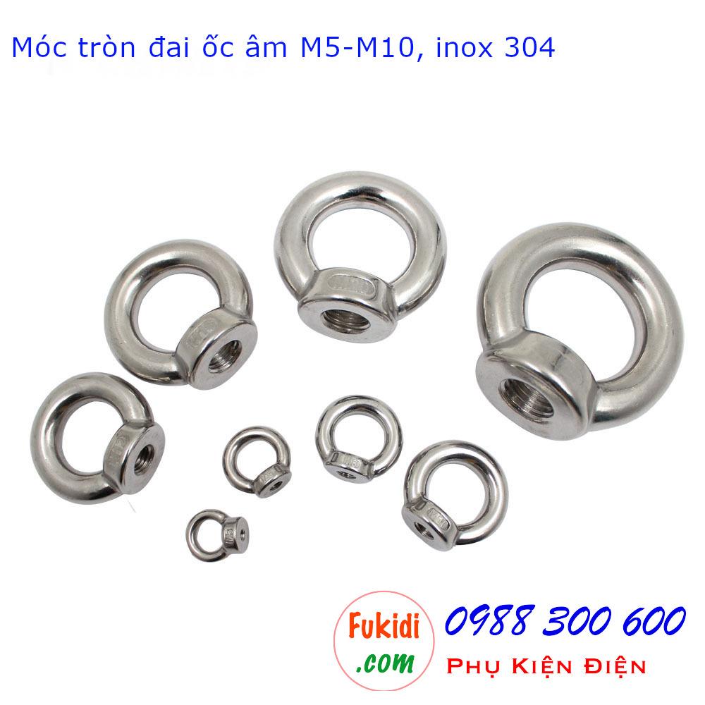 Hình ảnh móc tròn đai ốc hay móc cẩu đai ốc âm inox 304 kích thước từ M5 đến M24