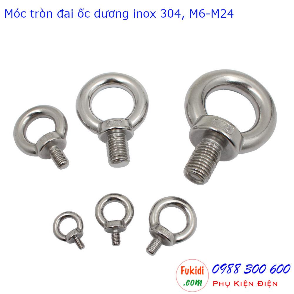 Hình dáng các loại móc tròn đai ốc từ M6 đến M24