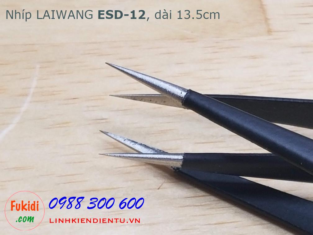 Nhíp gắp linh kiện điện tử Laiwang ESD-12