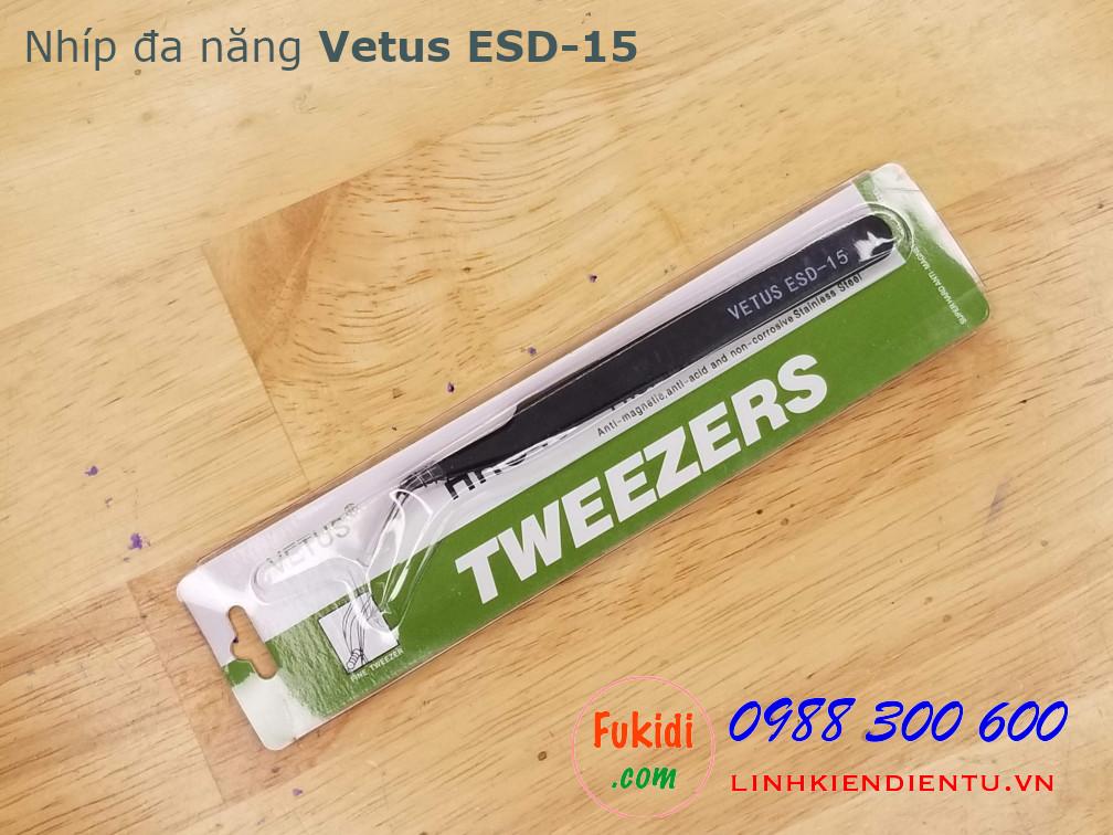 Nhíp đa năng, phù hợp để gắp linh kiện điện tử VETUS ESD-15