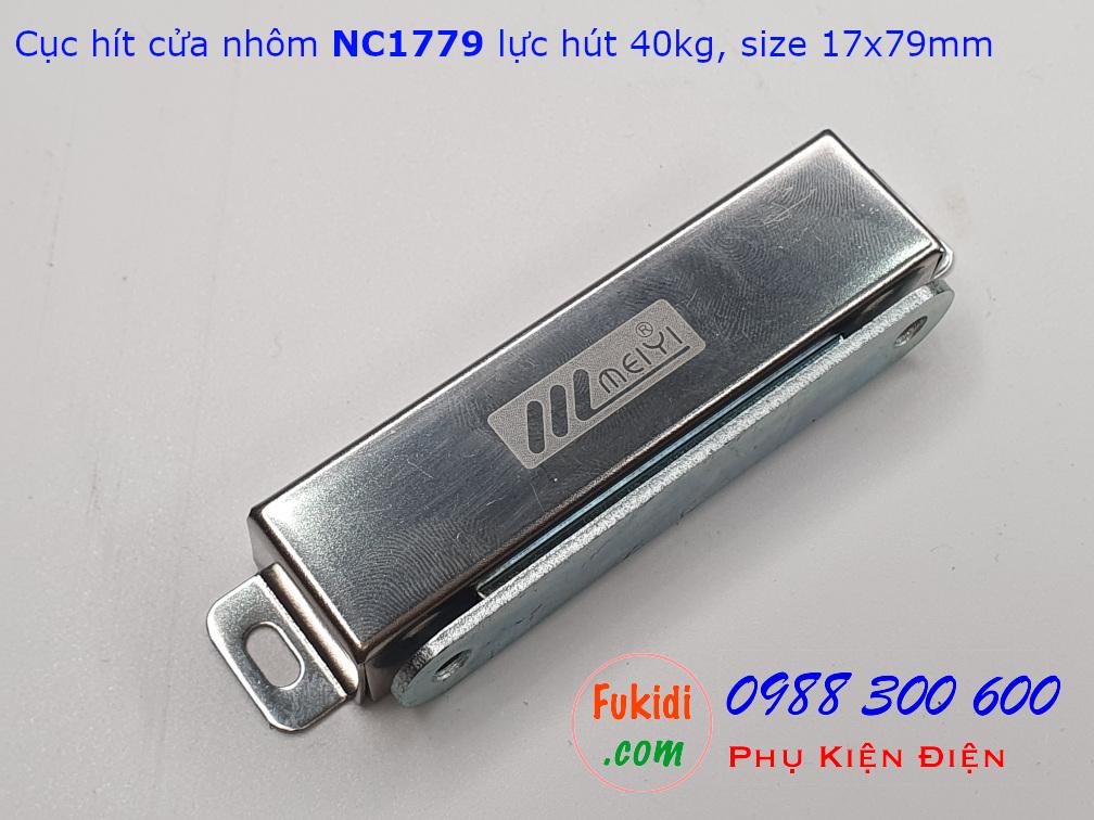Cục hít cửa nhôm, nam châm hít cửa tủ lực hút 40kg - NC1779