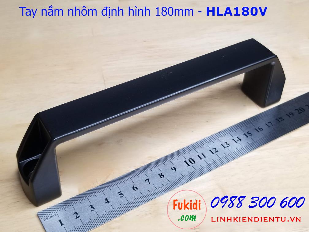 Tay nắm nhôm định hình, tay nằm chữ D bằng nhôm chiều dài 180mm - HLA180V