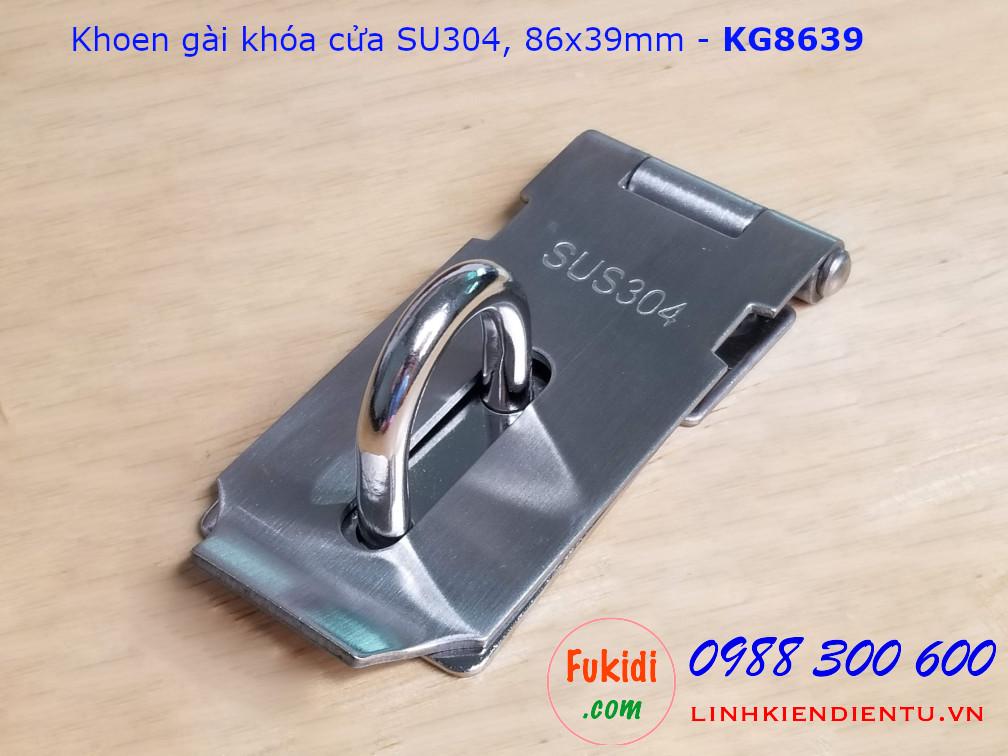 Khoen gài khóa cửa inox 304 kích thước 86x39mm dày 2mm - KG8639
