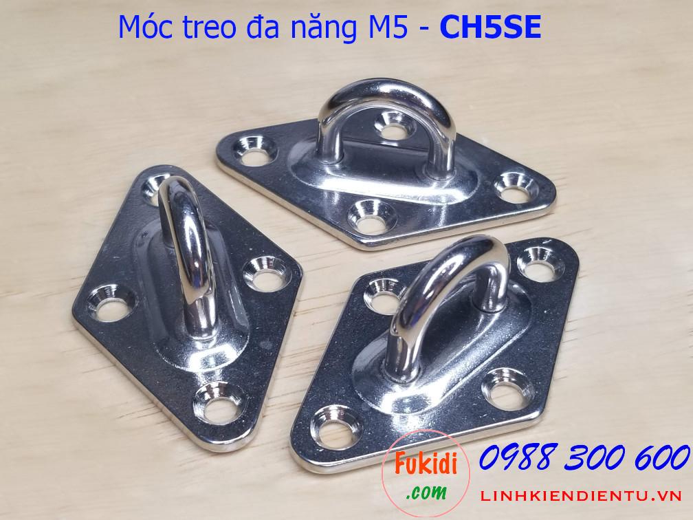 Móc treo ghế đu, xích đu, treo quạt trần inox 304 M5 - CH5SE