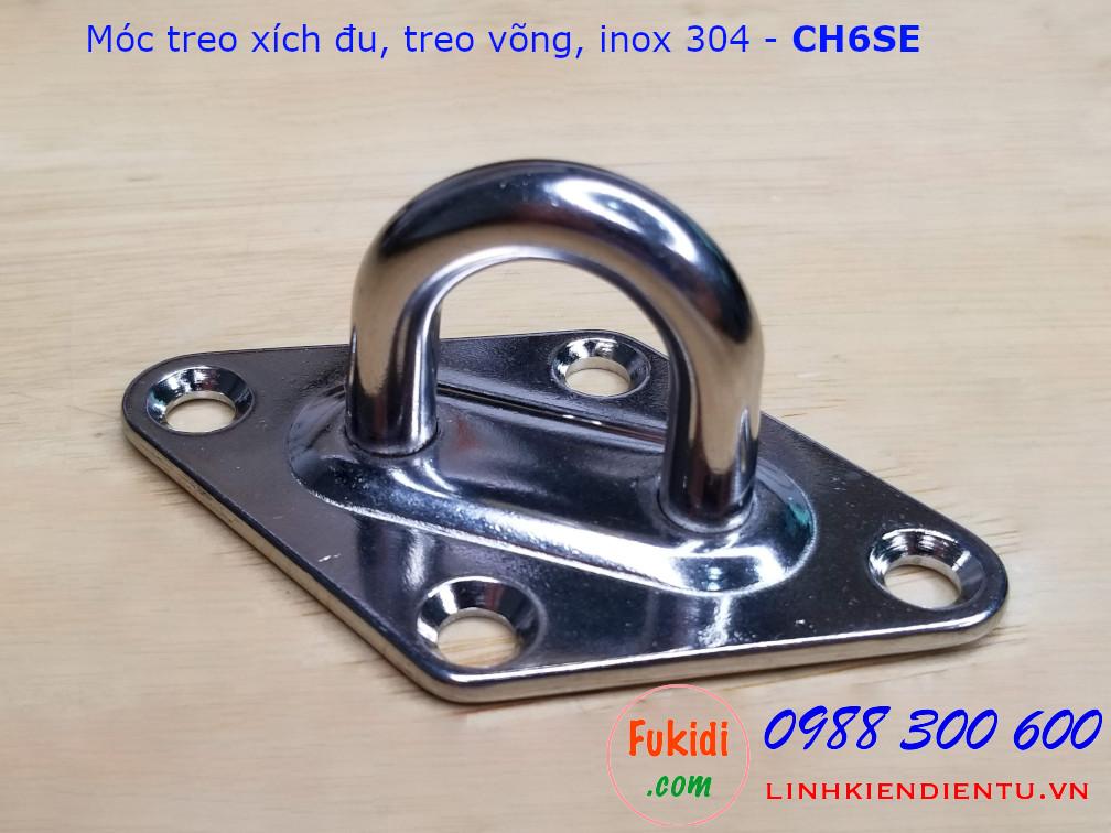 Móc treo xích đu, treo ghế lên trần nhà inox 304 size M6 - CH6SE