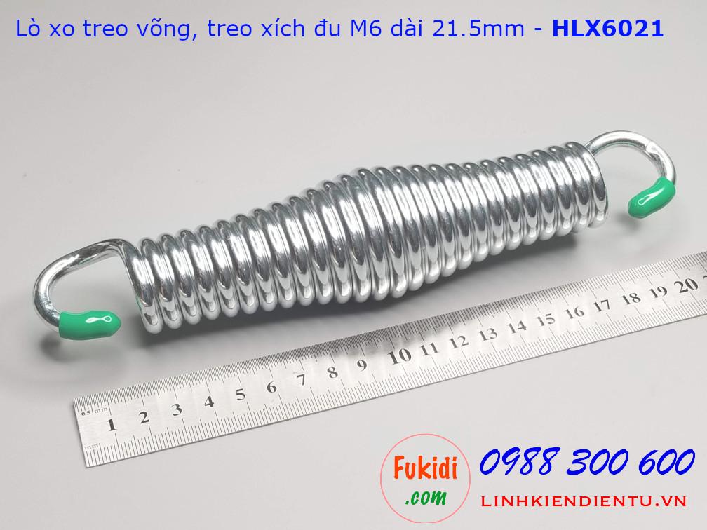 Lò xo treo xích đu, lò xo treo võng, treo ghế đu M6 dài 21.5mm tải trọng 160kg - HLX6021