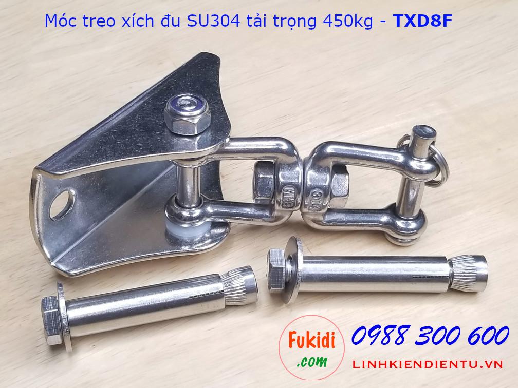 Móc treo xích đu, treo ghế đu, hình nỉa SU304 tải 450kg - TXD8F