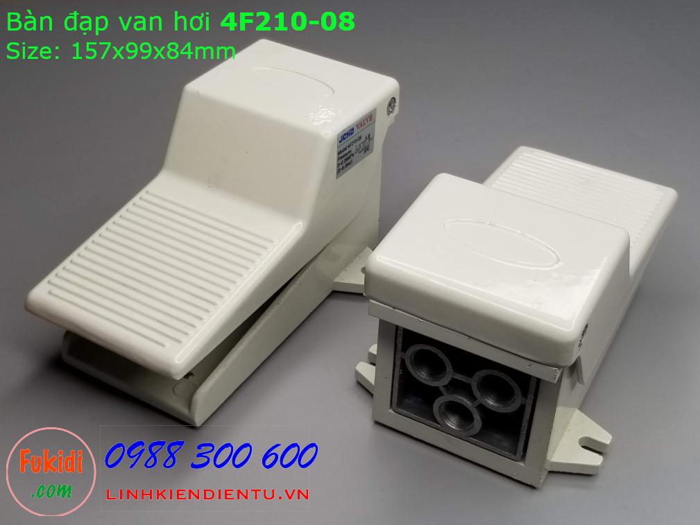 Bàn đạp van hơi 4F210-08 có hai van một thường đóng (NC) một thường mở (NO)