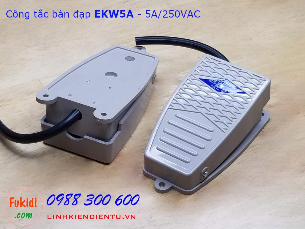 Công tắc bàn đạp EKW5A - vỏ nhựa, công suất 5A/250VAC