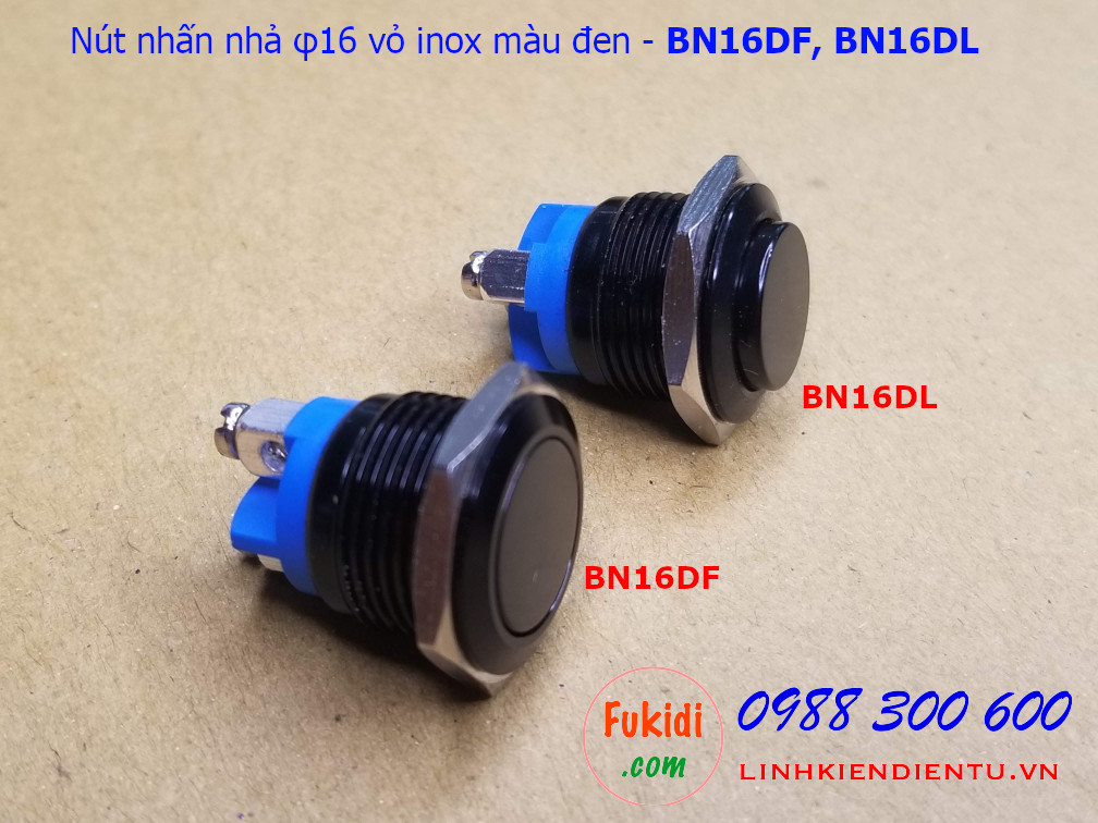 Sự khác nhau giữa đầu nút cao (BN16DL) và phẳng (BN16DF) như hình dưới