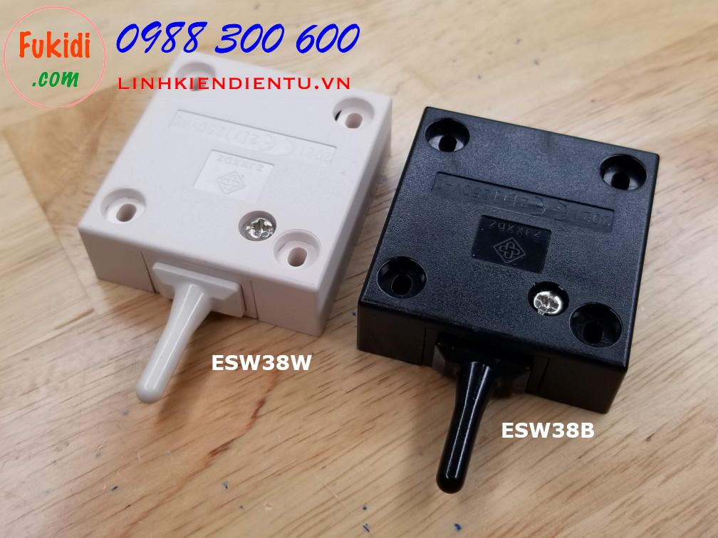 Công tắc đèn cho tủ áo, tủ bếp ESW38 màu trắng