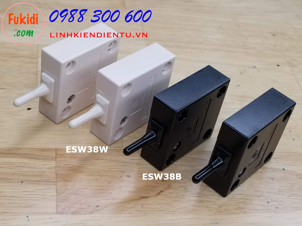 Công tắc đèn cho tủ áo, tủ bếp ESW38B màu đen