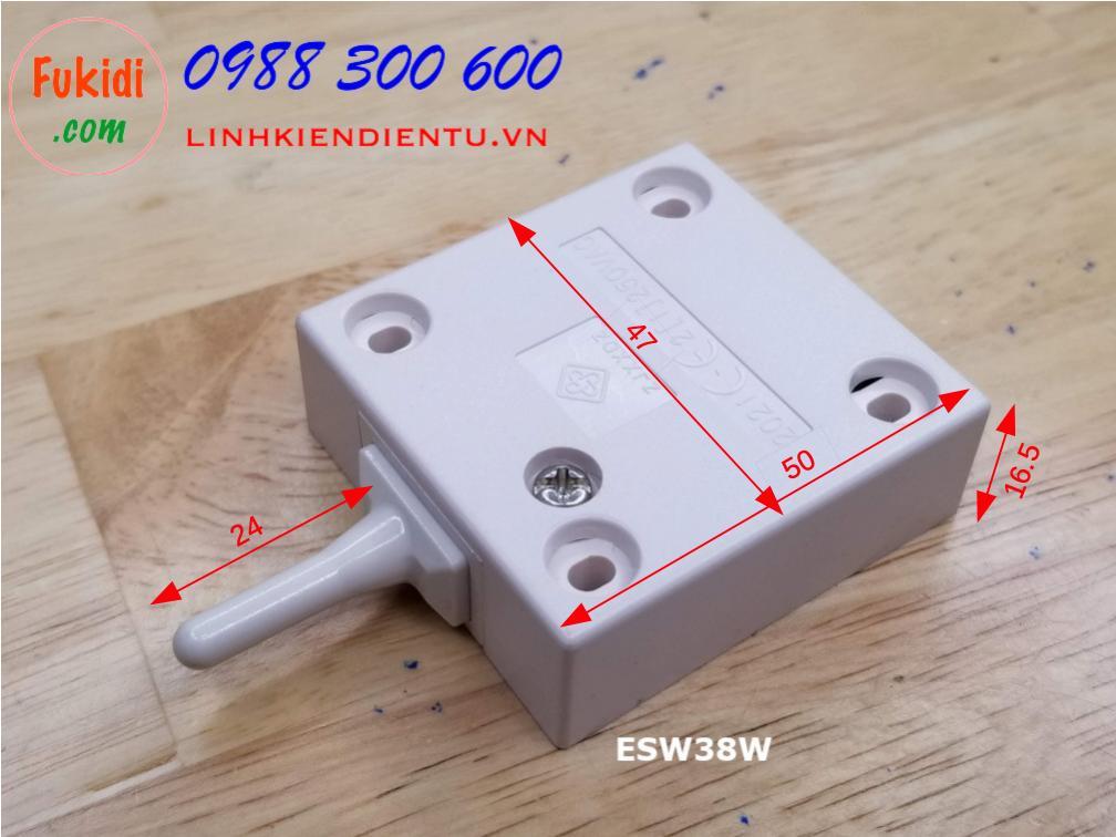 Công tắc đèn cho tủ áo, tủ bếp ESW38W màu trắng