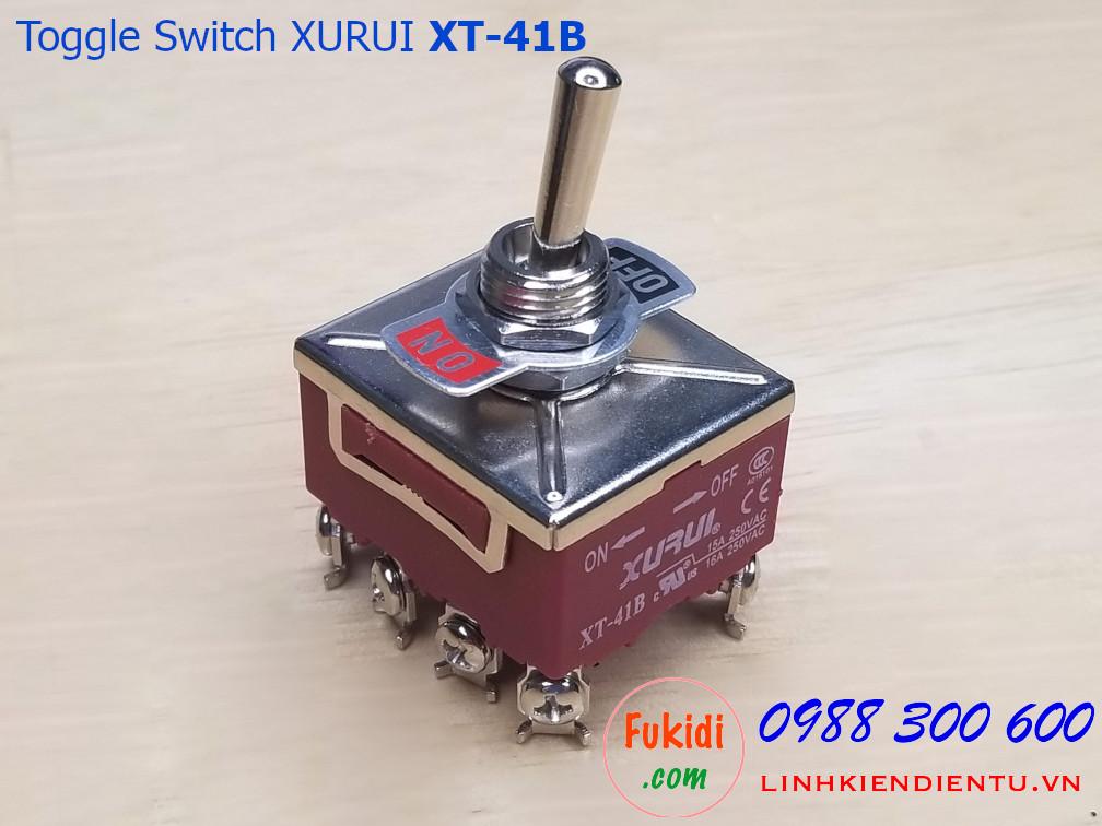 Toggle switch - công tắc gạt 8 chân ON-OFF Xurui XT-41B 15A/250VAC