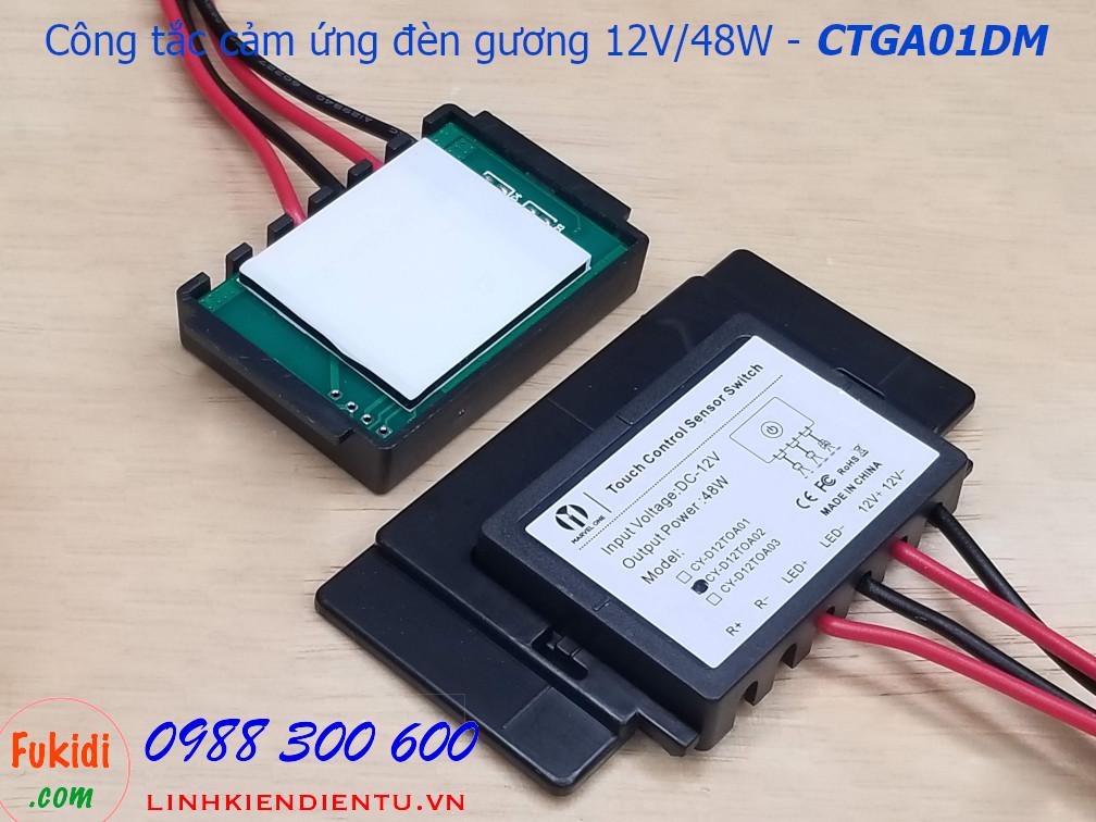Công tắc cảm ứng đèn gương 12V/48W ba mức sáng - CTGA01DM