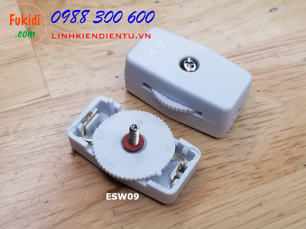 Công tắc treo dây dạng xoay bánh xe, 3A 250V ESW09