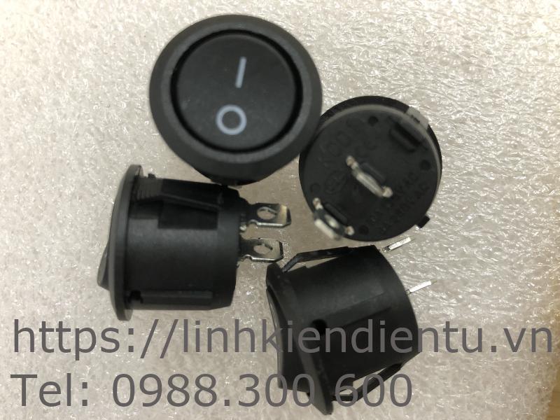 Công tắc tròn (bập bênh) 10A/250V 20mm