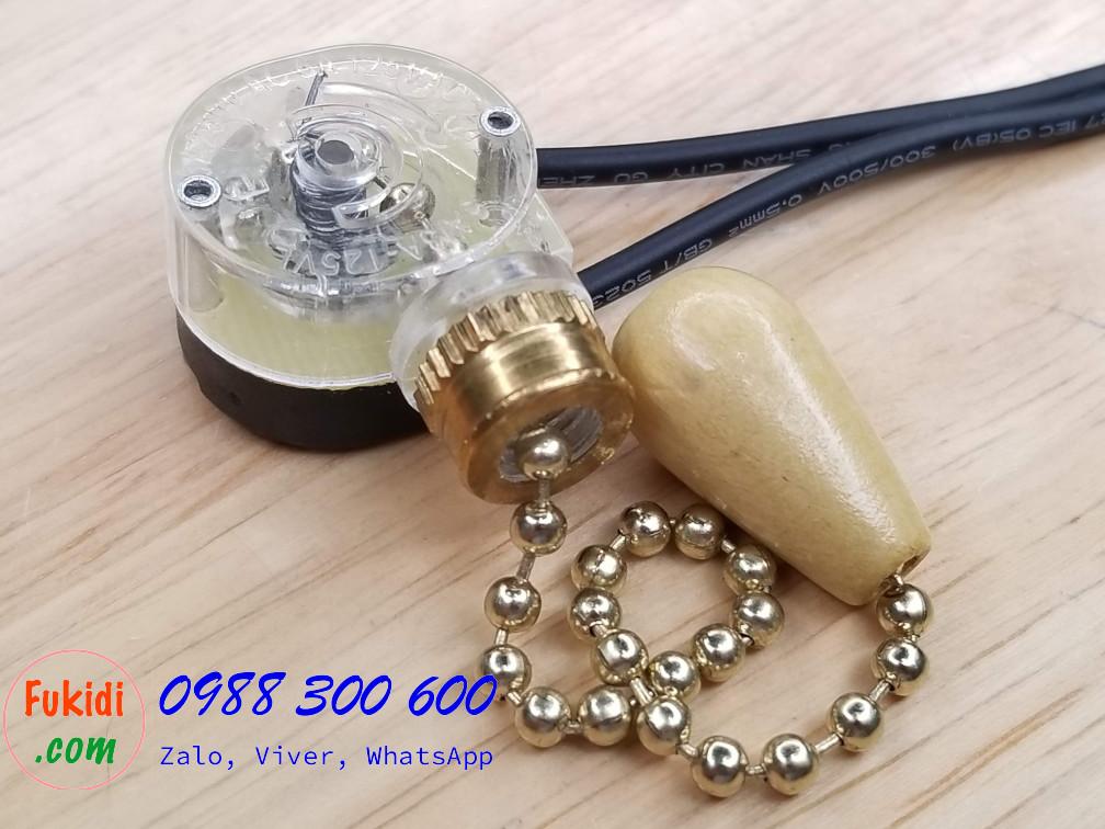 Công tắc dạng dây kéo chuyên dụng cho đèn tường quạt trần 3A 250V