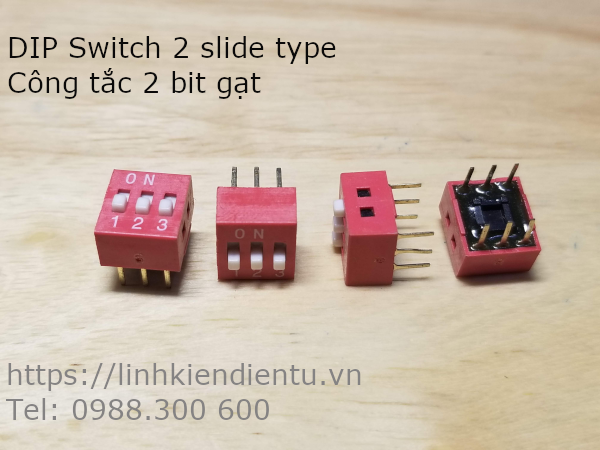 DIP Switch 3 slide type - Công tắc 3 bit gạt