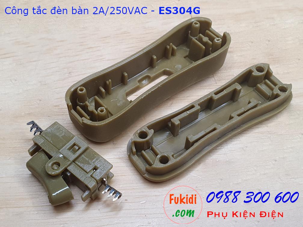 Công tắc treo dây 2A/250V dùng cho đèn bàn, đèn đọc sách màu nâu - ES304G