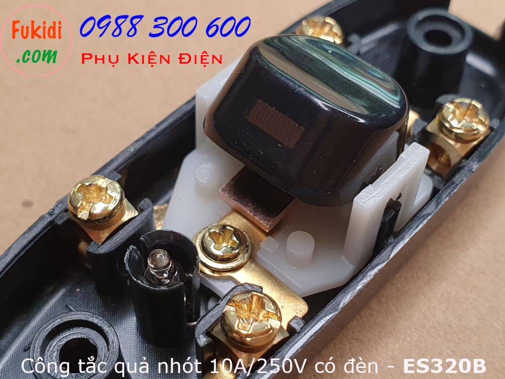 Công tắc treo dây, công tắc quả nhót, 10A 250V có đèn báo ES320