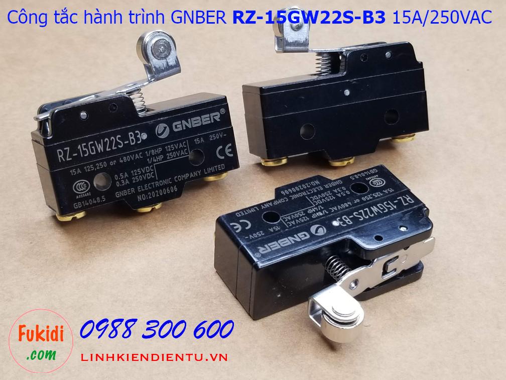 Công tắc hành trình Gnber RZ-15GW22S-B3 15A/250VAC