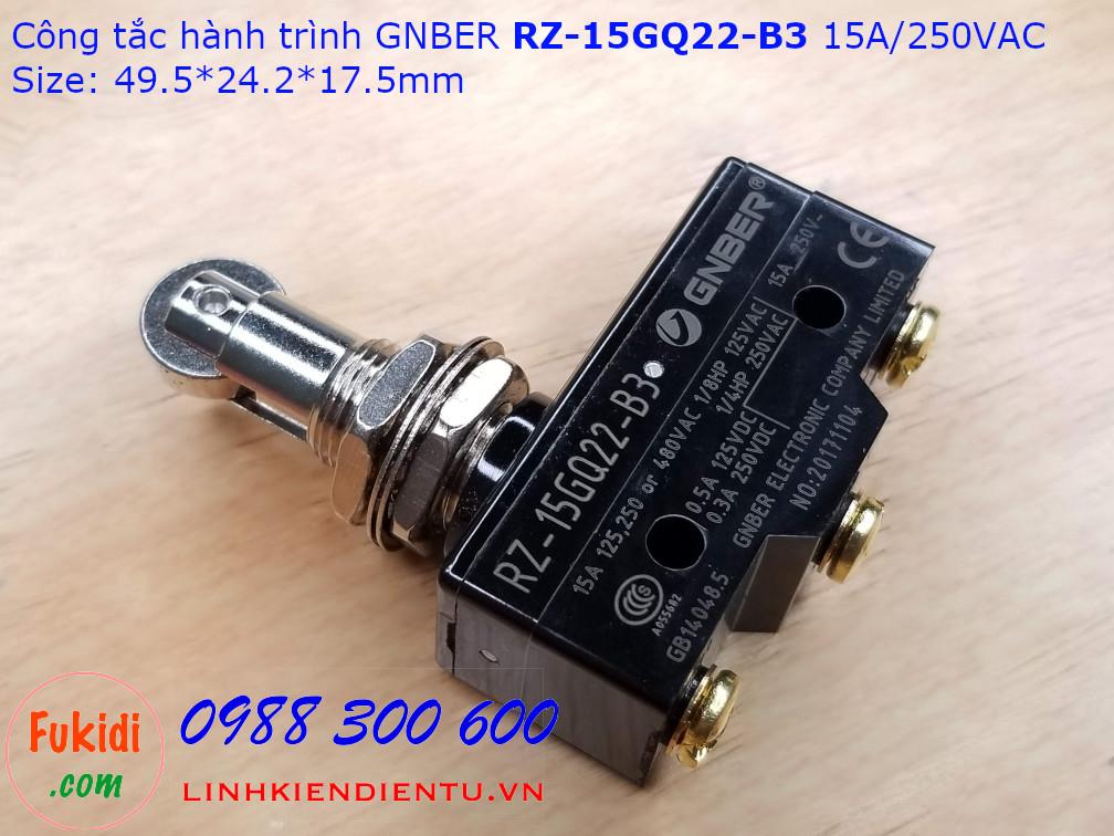 Công tắc hành trình GNBER  RZ-15GQ22-B3 15A/250VAC