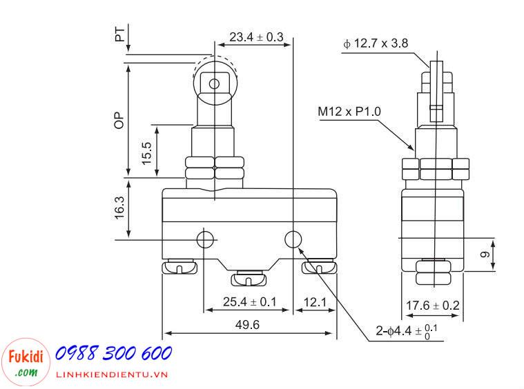 Công tắc hành trình GNBER  RZ-15GQ22-B3