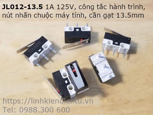 JL012-13.5 1A 125V công tắc hành trình, nút nhấn chuộc máy tính, cần gạt 13.5mm