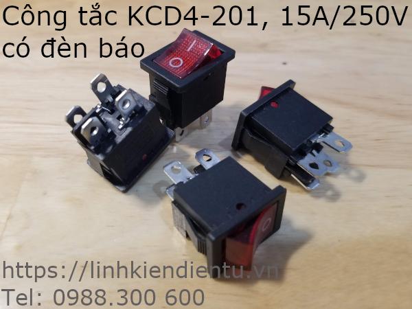 Công tắc KCD4-201 15A/250V có đèn báo