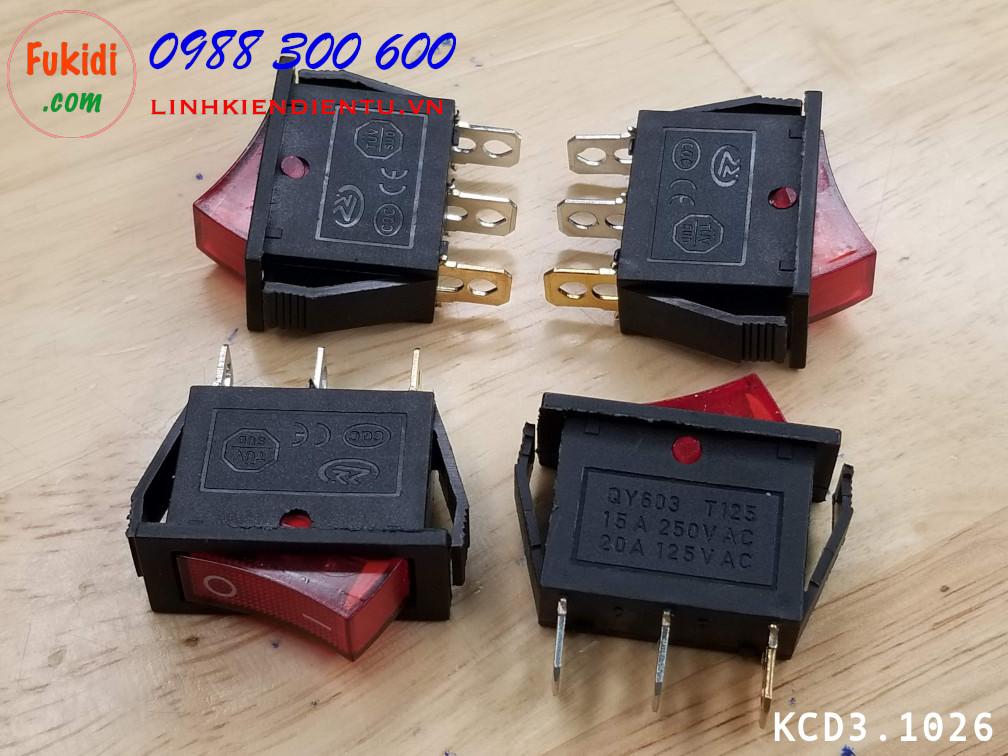 Công tắc bập bênh KCD3 5A 250V  kích thước 10x26mm