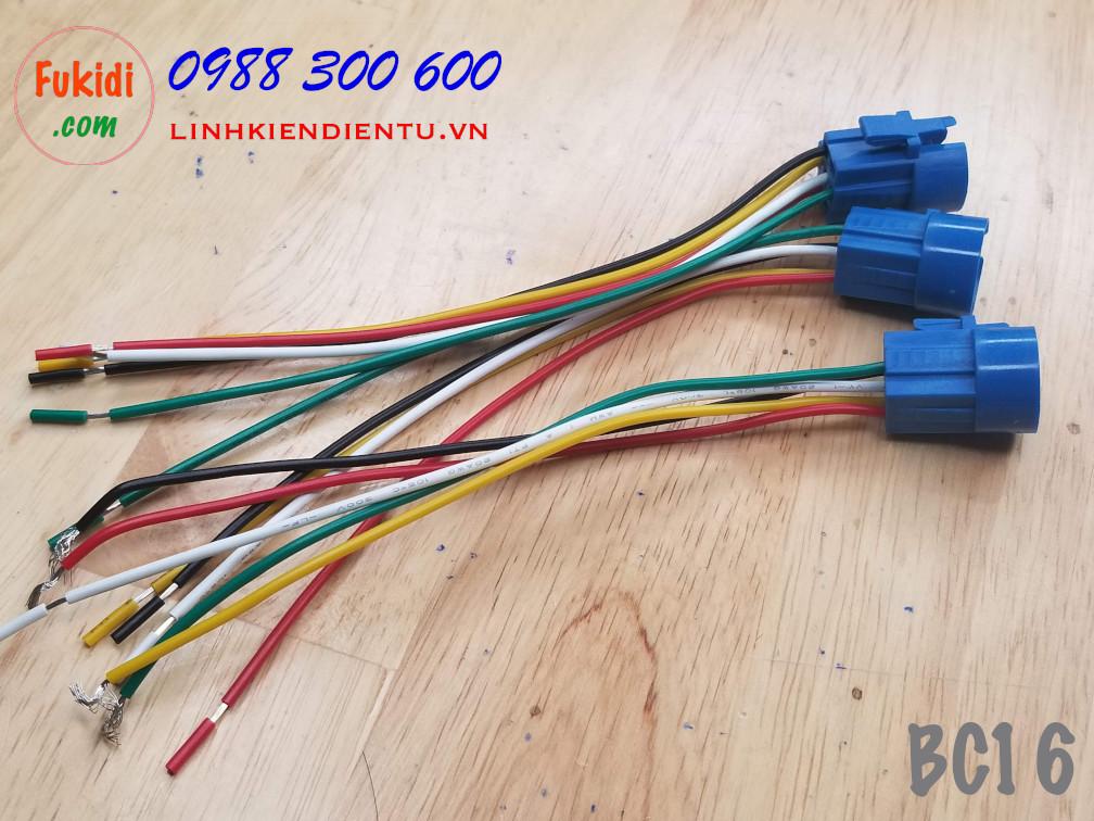 BC16 Đế nối dây cho nút bấm vỏ kim loại 16mm
