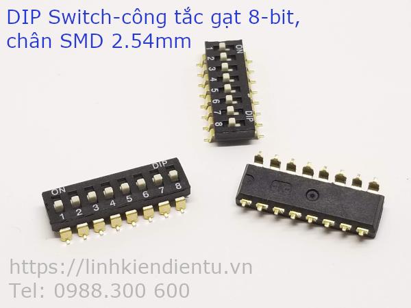 DIP Switch - công tắc gạt 8 bit, chân SMD 2.54mm
