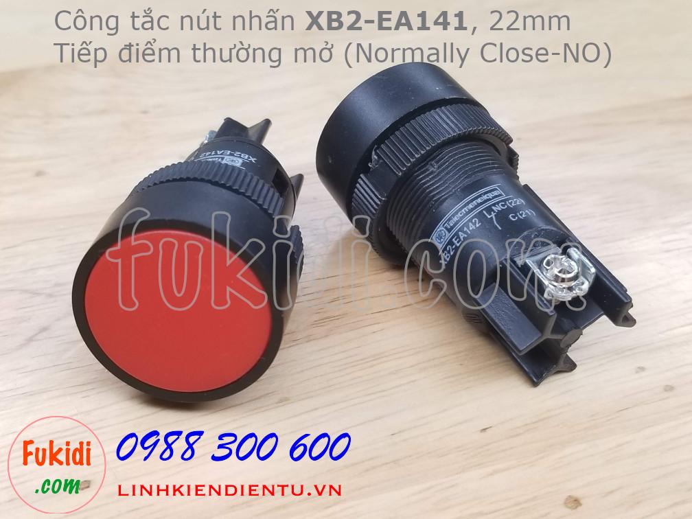Nút nhấn nhả XB2-EA141 22mm màu đỏ, thường mở (NO)