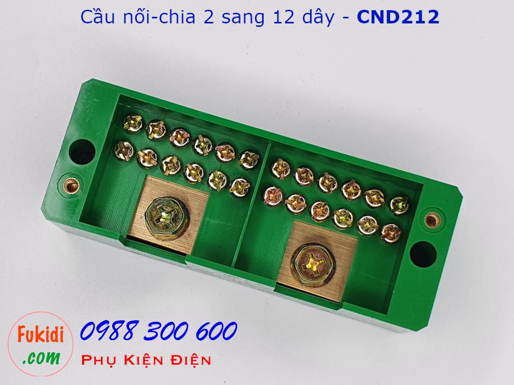 Cầu nối dây, cầu đấu chia dây điện, chia 2 sang 12 dây - CND212