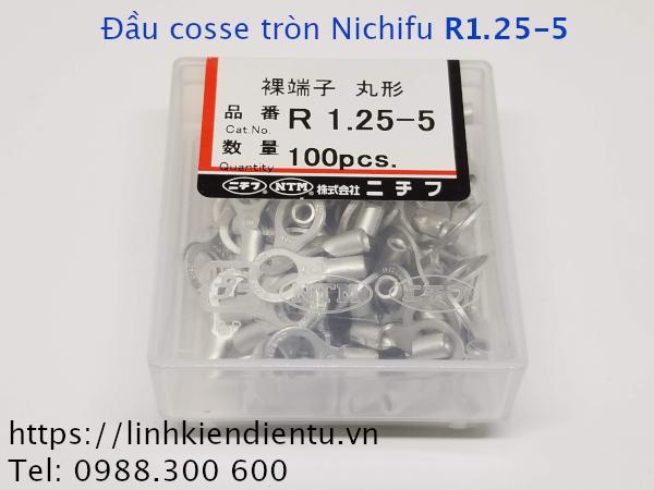 Đầu cosse tròn Nichifu R 1.25-5