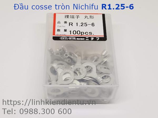 Đầu cosse tròn Nichifu R 1.25-6