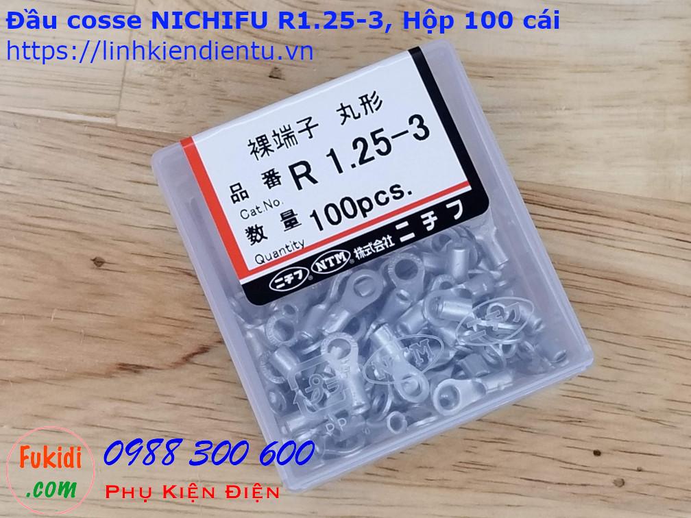 Đầu cosse tròn Nichifu R1.25-3