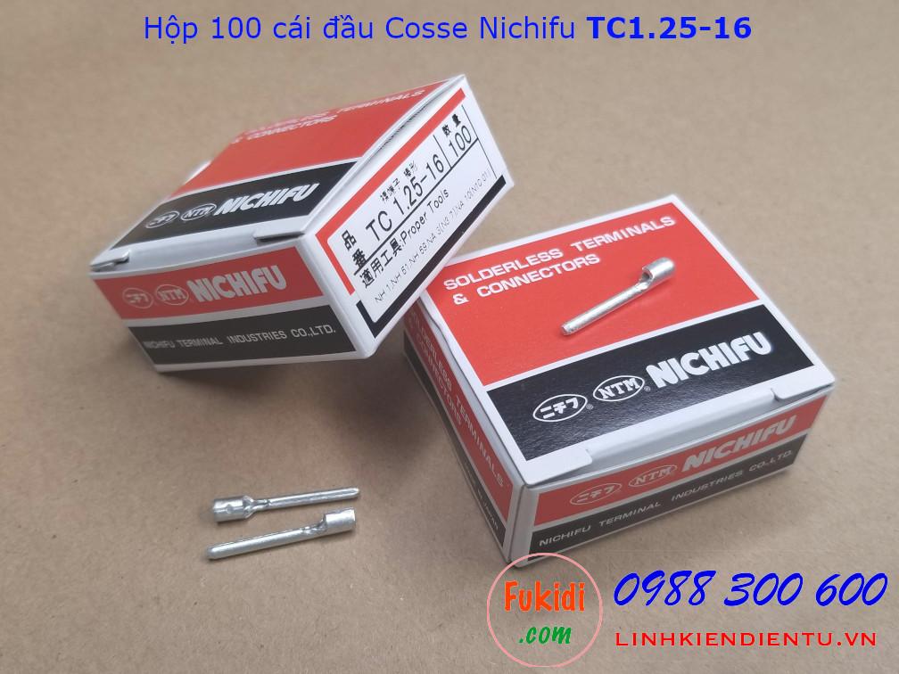 Đầu cosse ghim Nichifu TC1.25-16 dùng dây 1.7mm dài 22mm