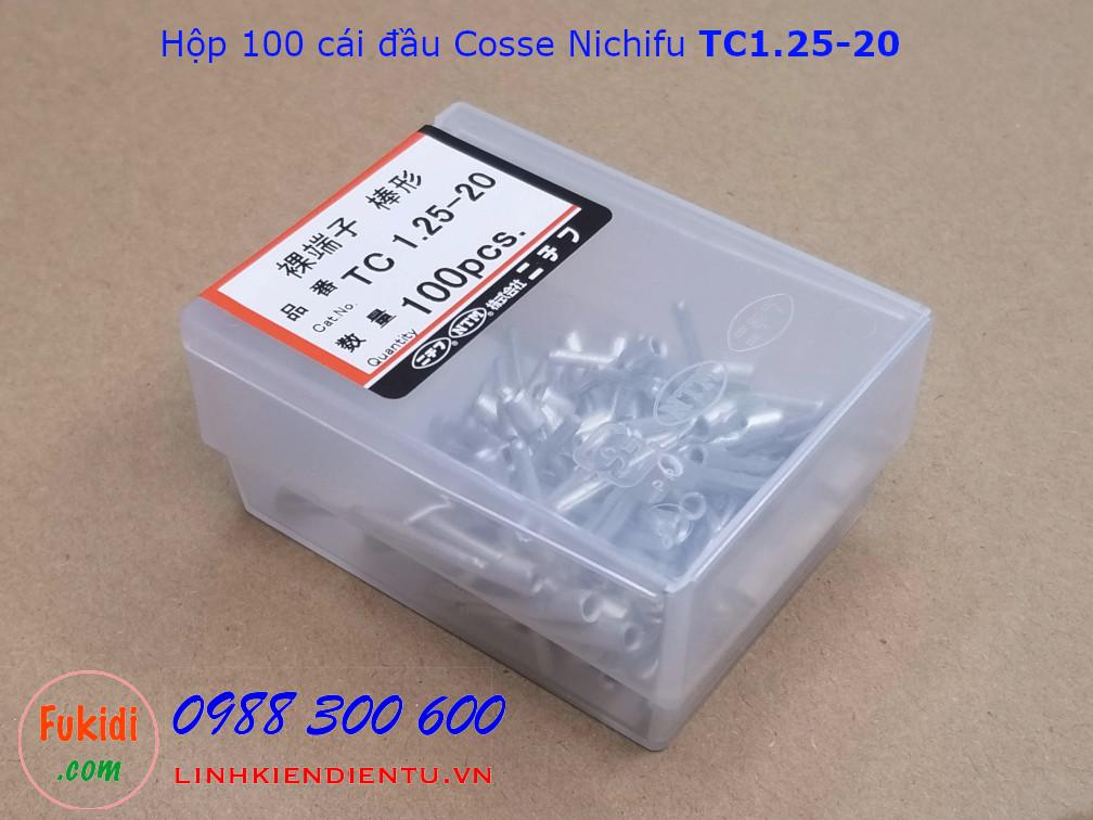 Đầu cosse ghim Nichifu TC1.25-20 dùng cho dây 1.7mm dài 26mm