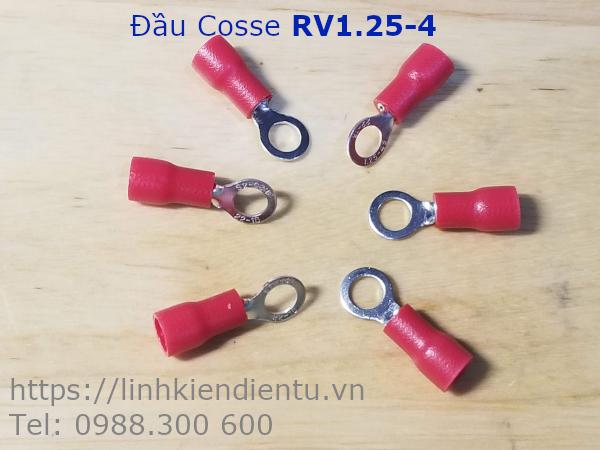 Đầu Cosse Tròn RV1.25-4