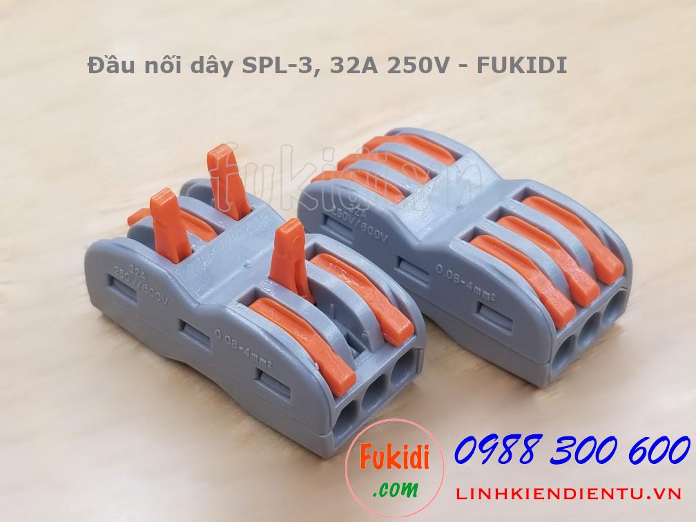 Cút nối dây, đầu nối hai cặp dây điện SPL-3 PCT-2133 32A 250V