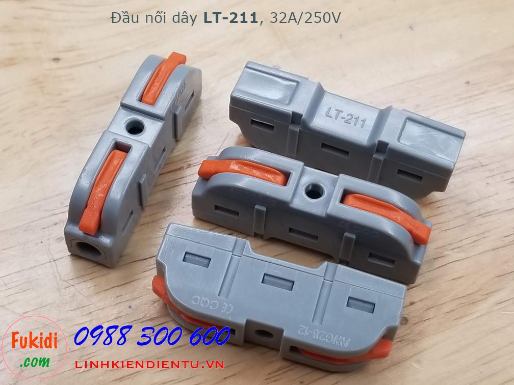 Cút nối dây, đầu nối hai cặp dây điện SPL-211 LT-211 32A 250V